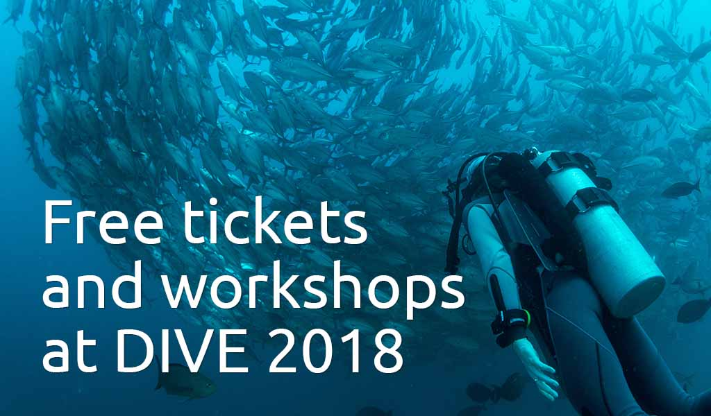 Free dive show tickets and workshops at DIVE 2018
