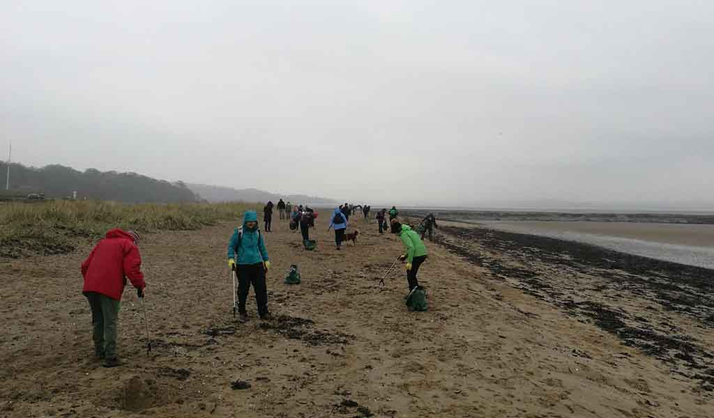 Marine Conservation Society (MCS) spring beach clean and litter survey at Cramond beach