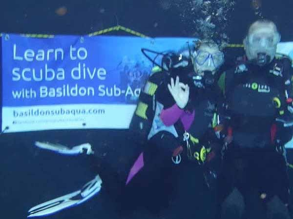 Thumbnail photo for Basildon Sub Aqua Club help raise funds for Radio Marsden in longest underwater broadcast