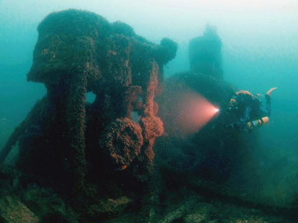 Thumbnail photo for 5 deep wrecks to dive on the south coast of the UK
