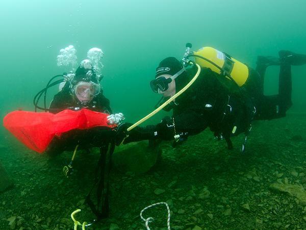 Retrieving 'ghost fishing' gear