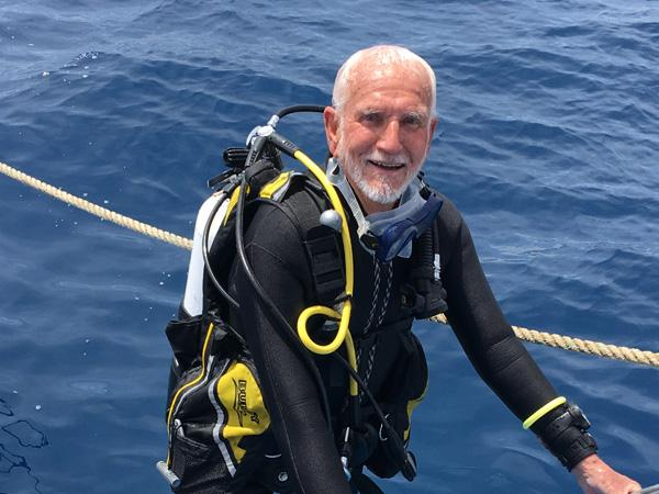 Thumbnail photo for World's oldest scuba diver's celebrations