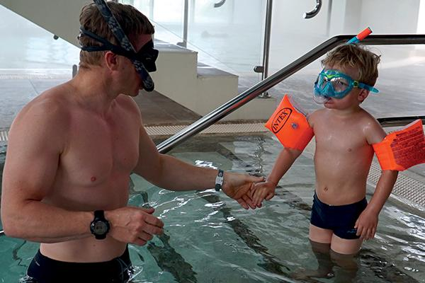 Thumbnail photo for First contact: Andy Torbet takes his son for his first snorkelling experience
