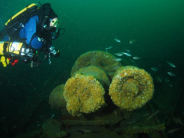 Thumbnail photo for 5 more deep wreck dives on the south coast of the UK