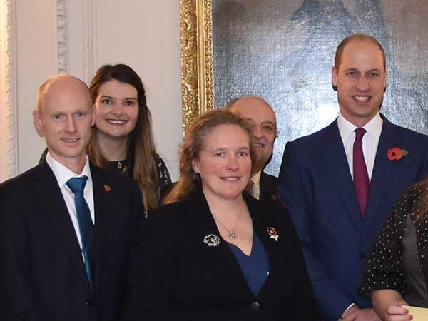 Gun Rocks Cannon project team received the Duke of Cambridge Scuba Award today
