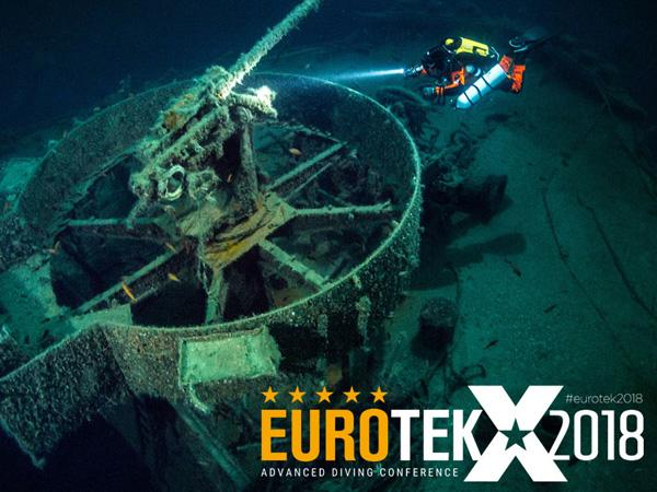 Get inspired at EUROTEK 2018 - feature image of technical diver on wreck
