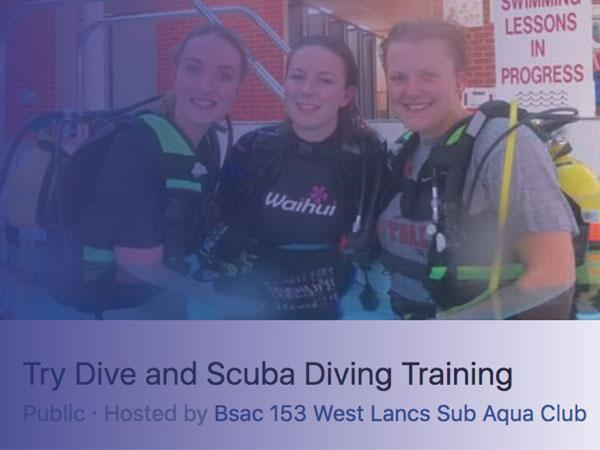 Use Facebook to promote Try Dives and course events