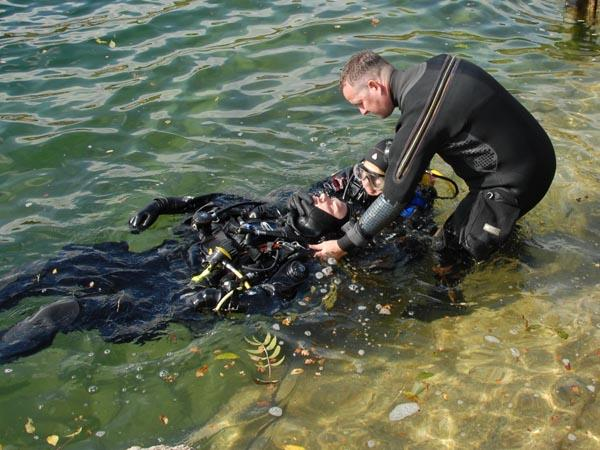 Practical rescue of diver