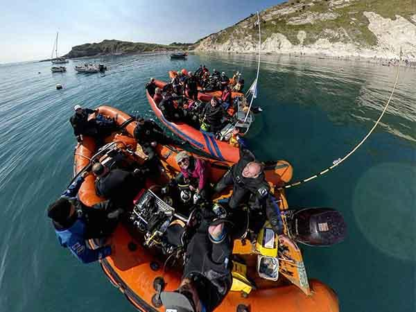 Luton BSAC at Lulworth Cove, Portland, Dorset