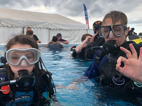 Thumbnail photo for BSAC Scuba Try Dive marathon for 1,407 youngsters