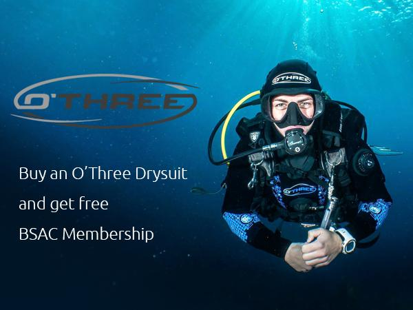 O'Three drysuit BSAC membership deal