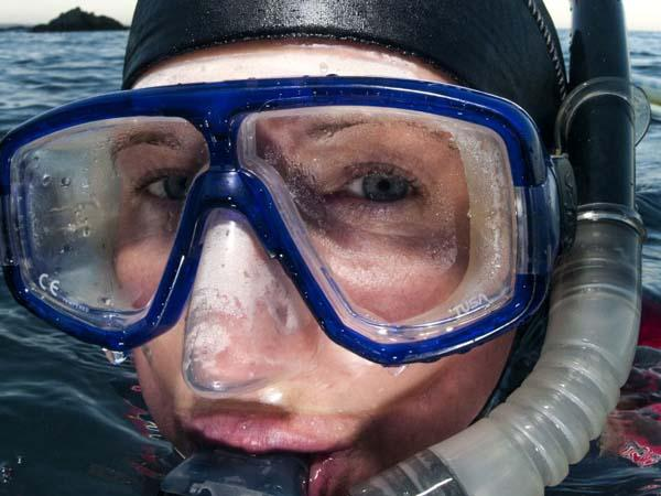 Thumbnail photo for What happens when you need to wear contact lenses underwater?