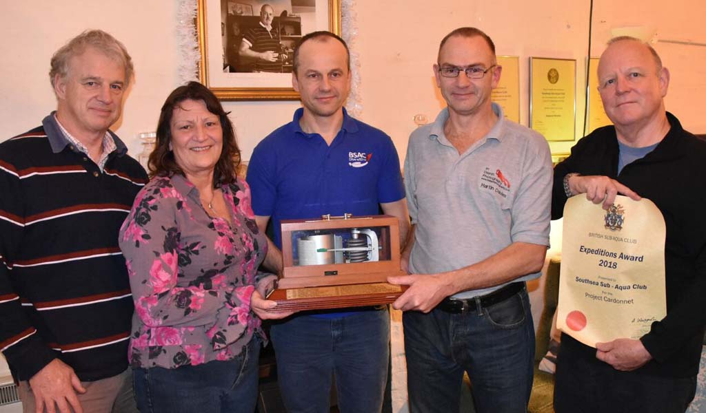 Southsea Sub-Aqua Club awarded BSAC Expedition Trophy