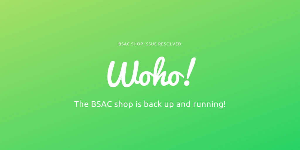 BSAC shop is back online