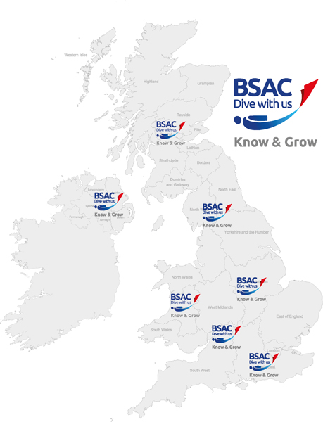 UK map Know and Grow workshops