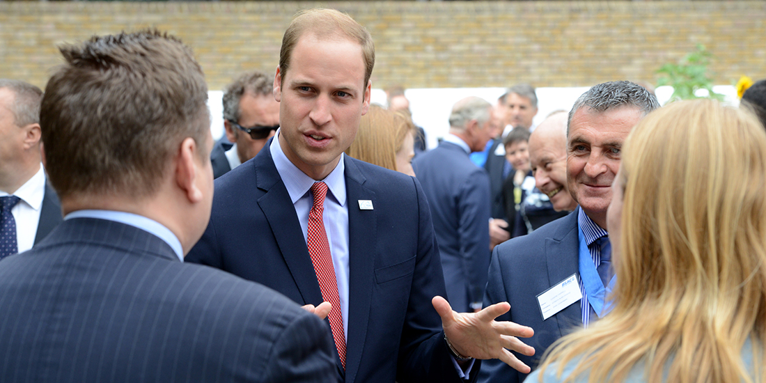 HRH The Duke of Cambridge meeting divers