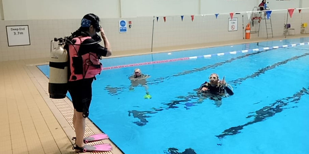 Clidive's highly organised pool training