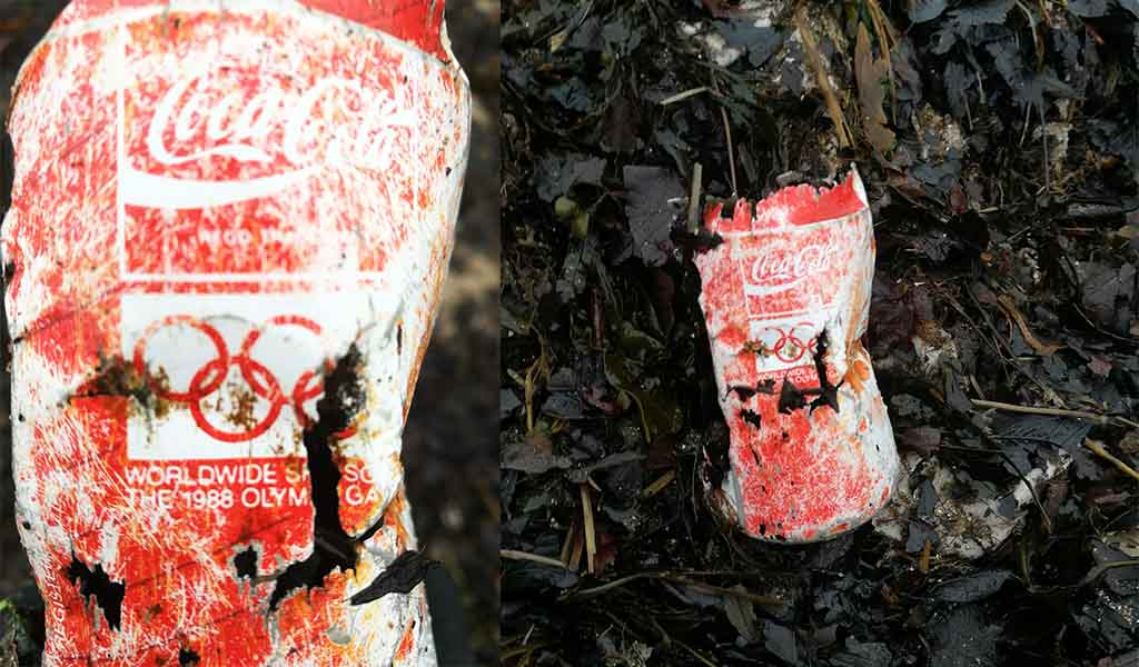 Coca Cola can from 1988 - MCS Beach Clean