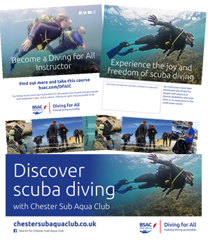 Diving for All promotional items