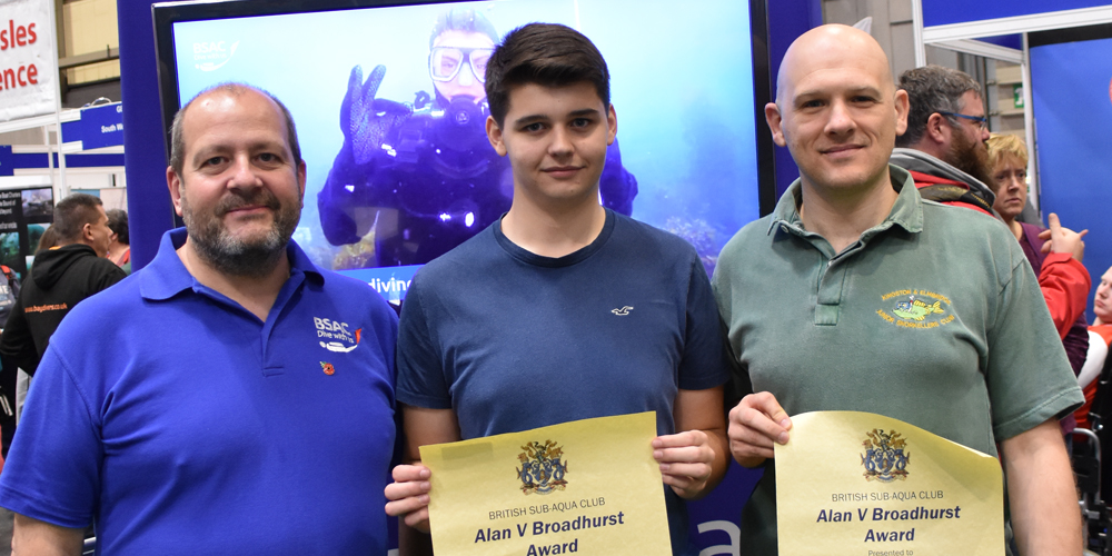 Jacob Byrne-Jones and Nick Stevens from Kingston and Elmbridge Snorkelling Club