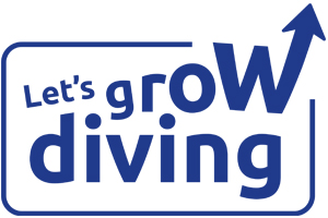 Let's grow diving in 2018 logo