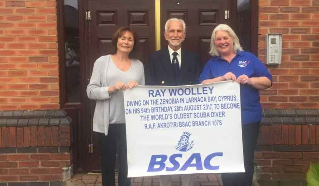 Ray with BSAC CEO Mary Tetley and his daugther Lyn Armitage